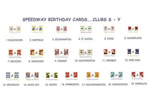 Image Is Loading SPEEDWAY RETRO PROGRAMME BIRTHDAY CARDS CLUBS S Y 19