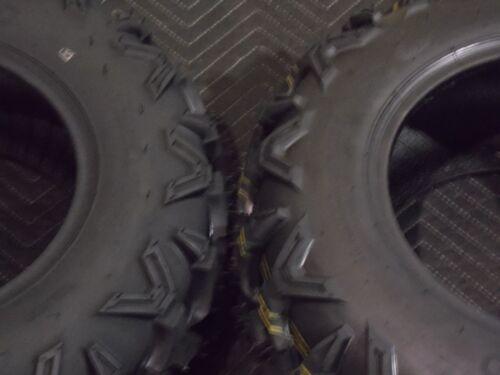 COMPLETE SET 4 TIRES 22x7-11  22x10-9  QUADKING 6 PLY SUZUKI OZARK ATV TIRES