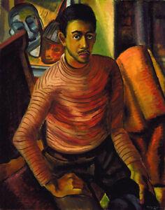 Self-Portrait : Malvin Gray Johnson : 1934 : Archival Quality Art Print