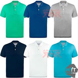 Camisa-Polo-para-hombre-Clasico-100-algodon-manga-corta-con-cuello-camiseta-Top-Plain-Pique
