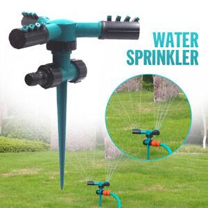 Rasensprenger 3-Arm Kreisregner 360° Regner Sprinkler Bewässerung Impulsregner