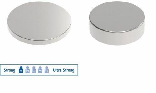 10x MAUL Neodym-Magnet  10x3mm nickel Haftkraft 2kg nickel Scheibenmagnet