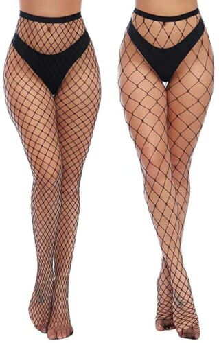 Details about  /Charmnight Womens High Waist Tights Fishnet Stockings Thigh High Pantyhose