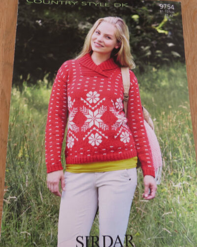 Snowflake Sweater Pattern No 9754 Sirdar Country Style DK