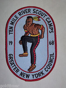 VINTAGE-BSA-BOY-SCOUT-PATCH-1968-TEN-MILE-RIVER-SCOUT-CAMPS-NEW-YORK-COUNCIL