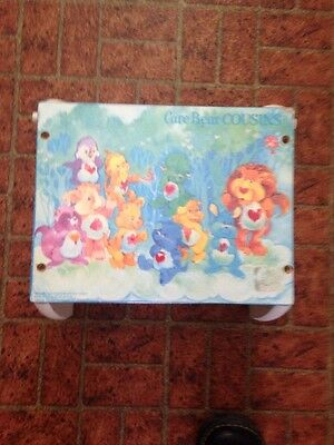 """Very Rare Vintage Care Bears Cousin  Step Stool / Bench 1980""""s"""