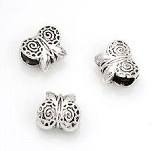 Wholesale Antique Tibetan Silver Owl Charm Spacer Beads for Bracelet