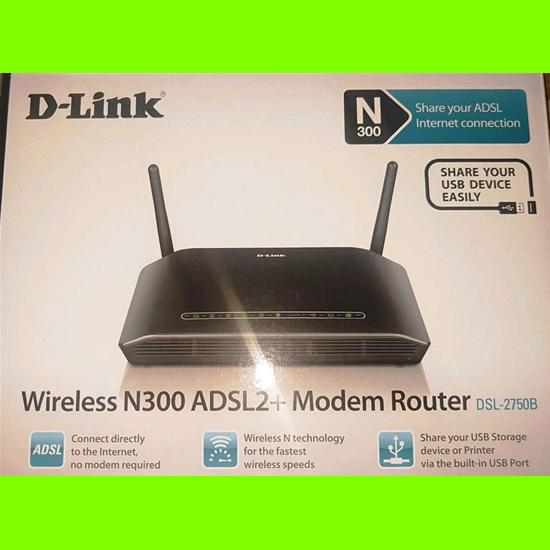 D-Link DSL-2750B Modem Router ADSL2/2+ N300 Fast Ethernet USB