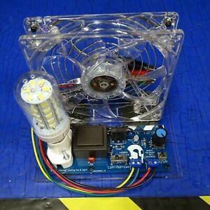 "Bedini SSG Motor ""SELF OSCILLATING"" Cooling Fan & light!"