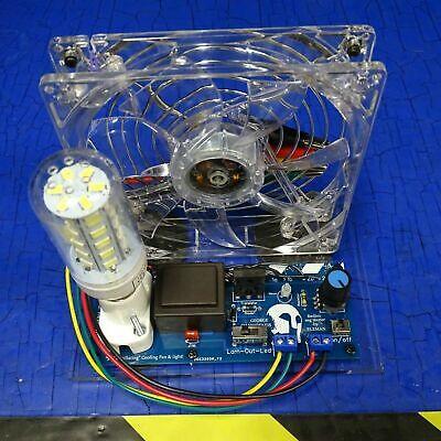 """Bedini SSG Motor """"Self oszillierender"""" Cooling Fan & Light ..."""