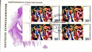 1974-GERMANY-COMMEMORATIVE-AUGUST-MACKE-GIRLS-UNDER-TREE-OFFICIAL-CACHET-UA-FDC