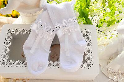 Weiße Festliche Baby Strumpfhose Taufe Weiß 56 62 68 74 80 86 92 98 104 110