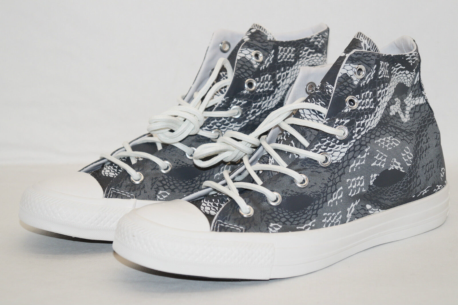 CONVERSE CHUCKS ALL STAR HIGH Gr.38 UK 5,5 REPTILE PRINT dunkelgrey weiss 547253