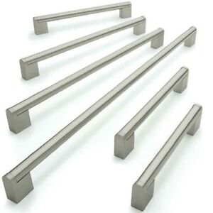 Kitchen-Cupboard-Cabinet-Boss-Bar-Door-Handle-Brushed-Stainless-Steel-Handles