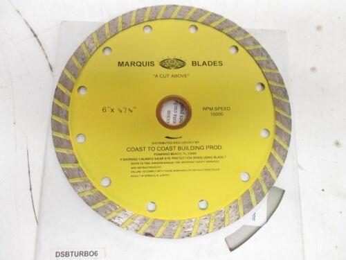 "MARQUIS DIAMOND CONTINUOUS TURBO BLADE DSBTURBO6 6/"" X 7//8/"" LP-013 5//8/"""