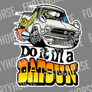 Japanese Car Vinyl Stickers - Datsun 1200 Ute White | eBay