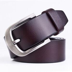 Men-039-s-Genuine-Leather-Dress-Belt-Casual-Pin-Buckle-Waist-Strap-Belts-Waistband