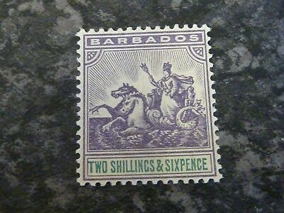 British Colonies & Territories Modest Barbados Postage Stamp Sg115 2/6d Lmm