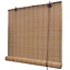 Roller Blind Bamboo Brown Window Sunshade Blinds Hanging Windows Kitchen Cords