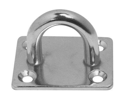 1 Decksplatte Edelstahl A2 poliert Augplatte Mastplatte Zurroese 8225