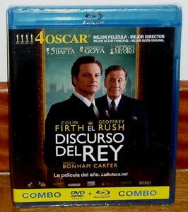 EL DISCURSO DEL REY COMBO BLU-RAY+DVD PRECINTADO NUEVO DRAMA (SIN ABRIR) R2