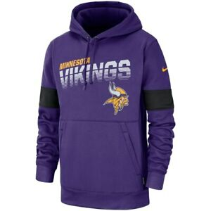 buy online 4e53c 758dc Details about 2019 Nike Minnesota Vikings Sideline Logo Performance Dri-FIT  Pullover Hoodie