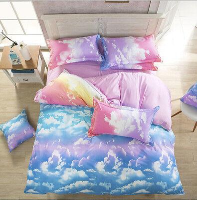 Cloud Sky Bedding Quilt Duvet Cover Pillowcase Set Beds Twin Queen King Sizes