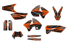 2005 2006 2007 KTM EXC 125 250 450 525 graphics deco kit #3333 Orange