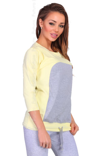 Casual Two Colours Jumper 100/% Cotton Top 3//4 Sleeve Tunic Size 8-12 FT1911