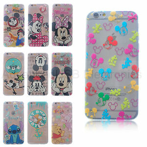 Disney-Daisy-Funda-TPU-Transparente-de-dibujos-animados-Para-Apple-iPhone-6S