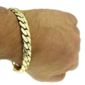 Image Is Loading Miami Cuban Link 12mm Thick Chain Bracelet 14k