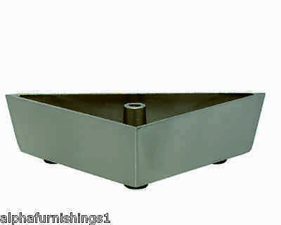 "Metal Furniture Leg Metal Leg for Furniture Sofa 2"" Triangle Satin 4PC"