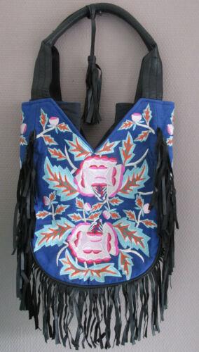 Damen Tasche Shopper von LAIT /& MIEL Baumwolle Leder bunt SALE neu