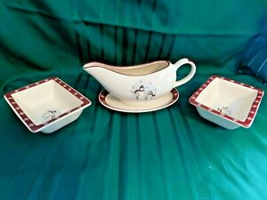H-Royal-Seasons-Stoneware-Snowman-Gravy-Boat-Hors-d-039-Oevre-Dishes-2