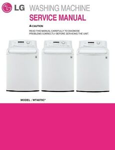 Image Is Loading Lg Wt4870cw Washer Service Manual Parts List Catalog