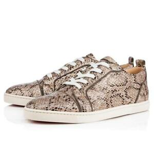 promo code 75618 f4ce0 Details about Christian Louboutin GONDOLIERE ORLATO Glitter Snake Low Top  Sneakers Shoes $845
