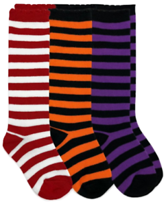 1Pair Girls Cotton Stripe Knee High Socks YOU PICK SIZE /& COLOR