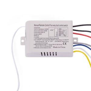 Lampe-a-4-voies-Commutateur-de-telecommande-sans-fil-numerique-ON-OFF-220-Q5X4