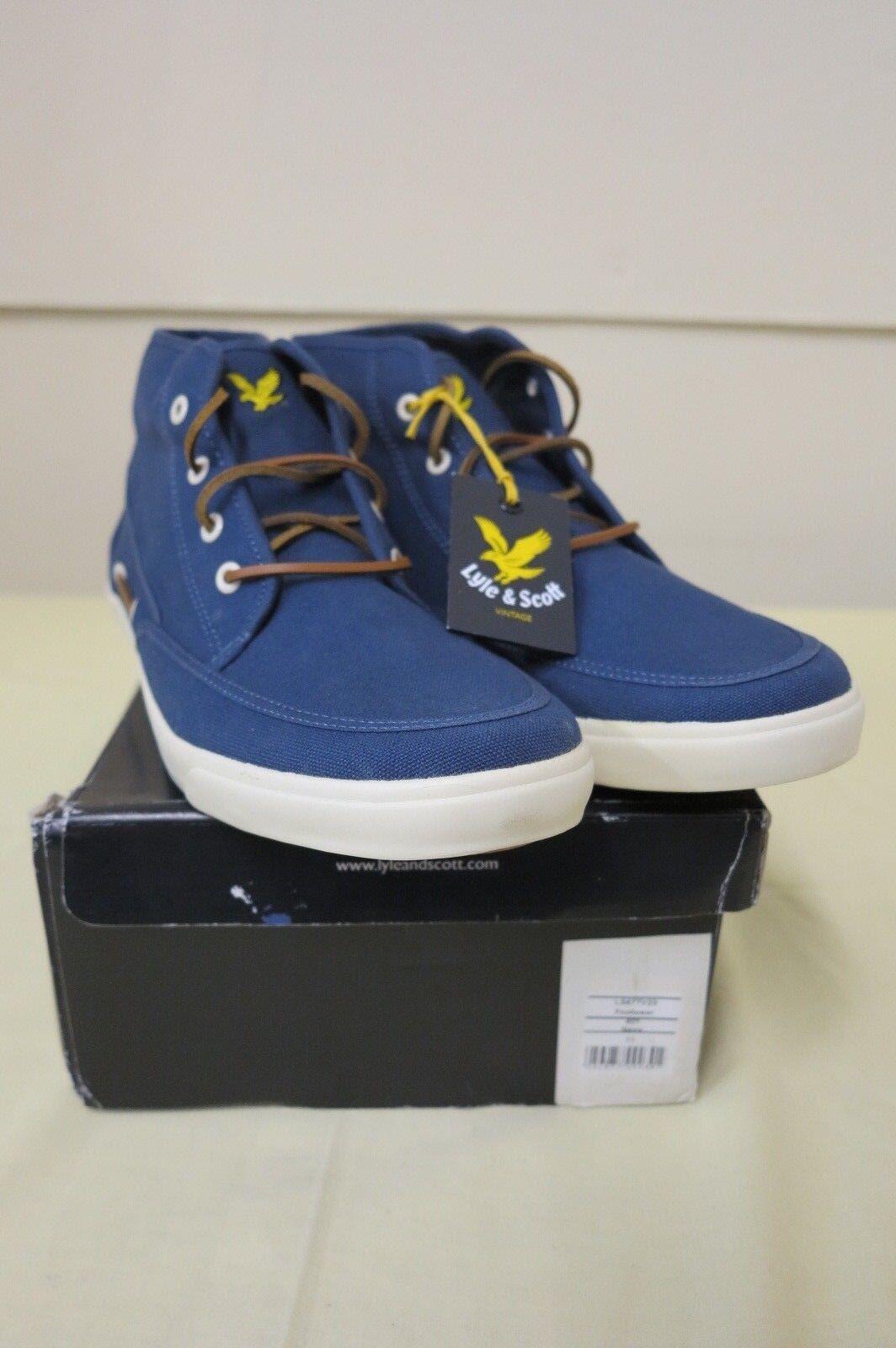 LYLE & SCOTT vintage chaussures pour homme Bleu marine 11UK NEUF