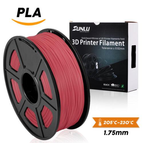 SUNLU PLA 3D Printer Filament 1.75mm 1KG//2.2lb Spool Black PLA Printer Filament