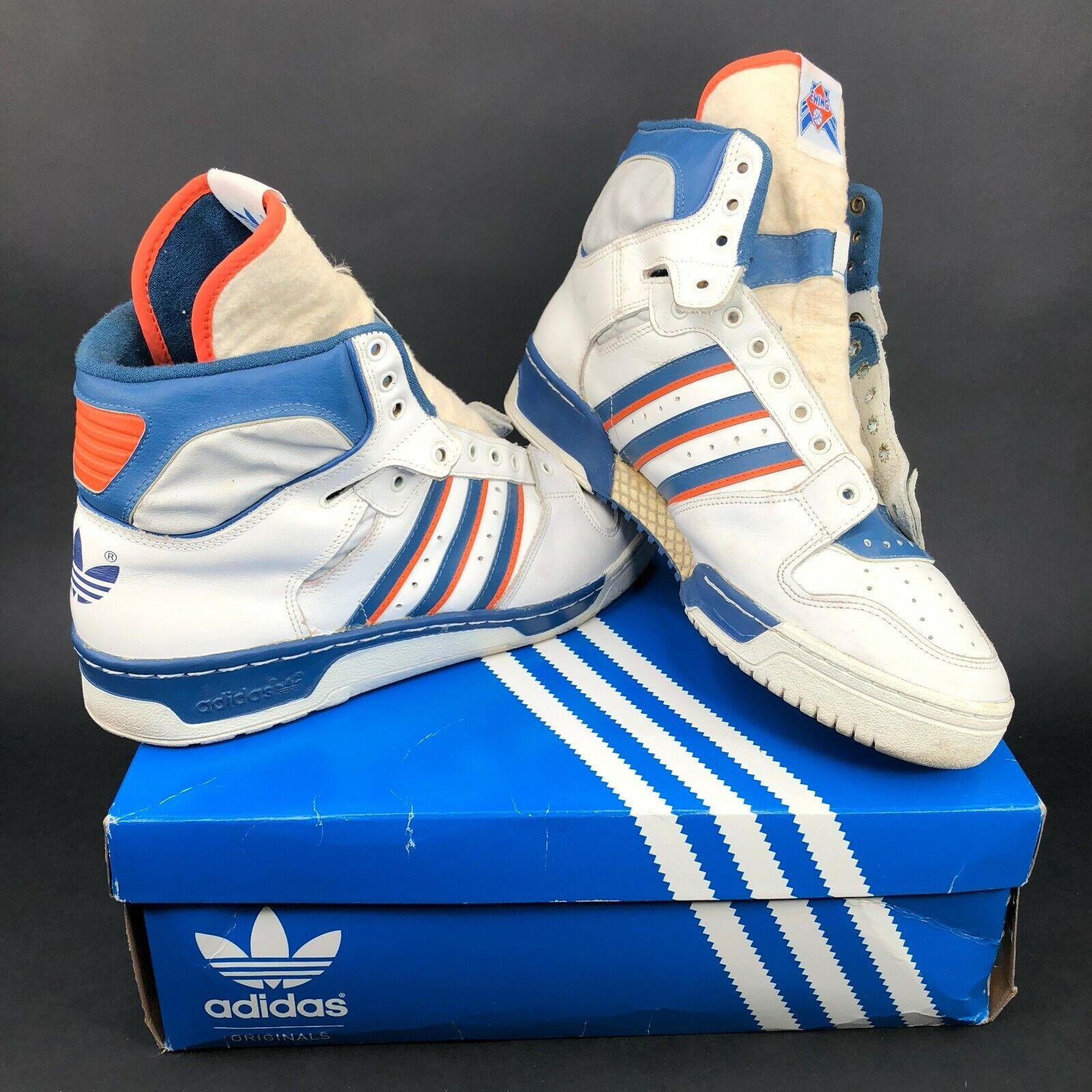 Vintage Adidas Conductor Hi Top Patrick Ewing Zapatos blancoo Francia señaló para hombre 11.5