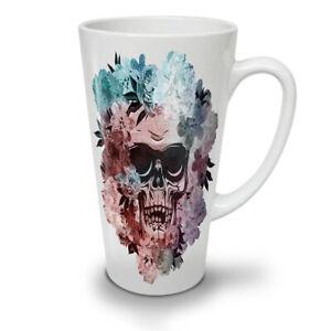 Skull Skeleton Flower NEW White Tea Coffee Latte Mug 12 17 oz   Wellcoda