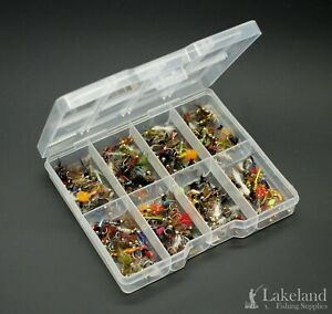 Tackle-Fly-Box-Assortment-of-Gold-Head-Nymphs-Trout-Fishing-Flies-Starter-Kit