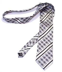 Steve Harvey Tie Collection Men Black Gray Stripes Dots Career