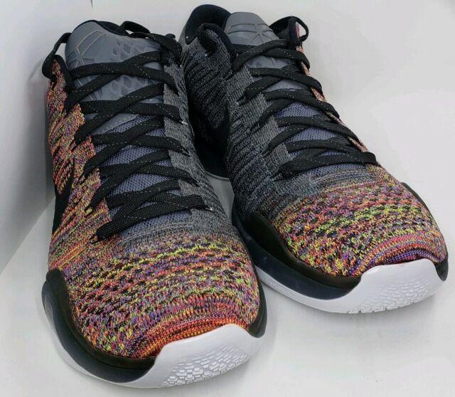 e2ee57eca629 Nike Kobe X 10 Elite Low Flyknit Multicolor 2.0 QS iD White SZ 12 (802817