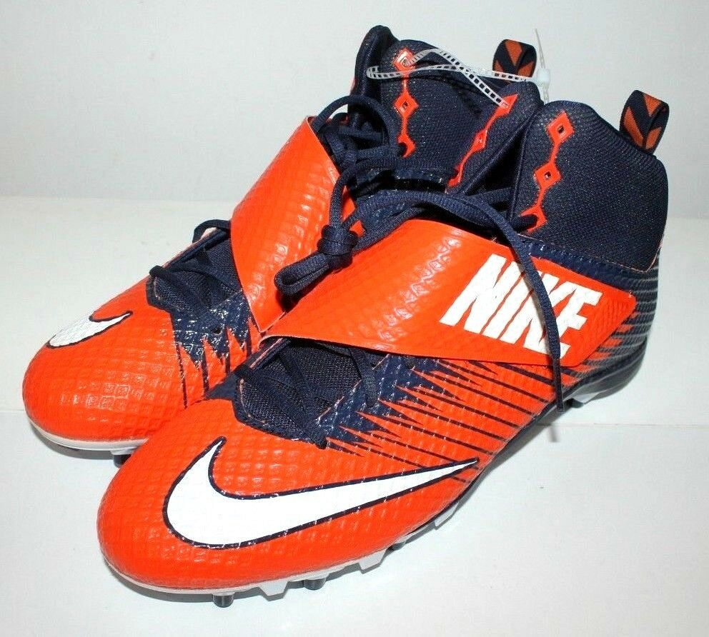 online store 01fb9 dc673 NIKE STRIKE PRO FOOTBALL CLEATS MEN SIZE 16 CLEAT NAVY   orange