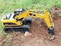Radio Controlled Rc Excavator Digger Remote Control Tractor Dumper Truck Pro Toy