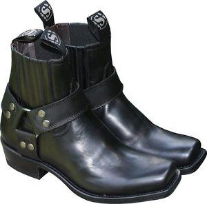 Biker Ankle Boots About Original Show Leather Sendra New Title Details Black e2EDIYWH9