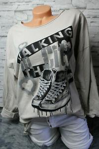 Italy-Shirt-Pulli-Gr-36-38-40-42-Hemd-Print-Sweat-Shoes-blogger-beige-NEU