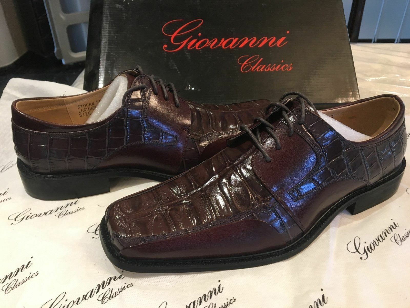 Giovanni Men's Brown   Burgundy Leather  Oxfords shoe 195560